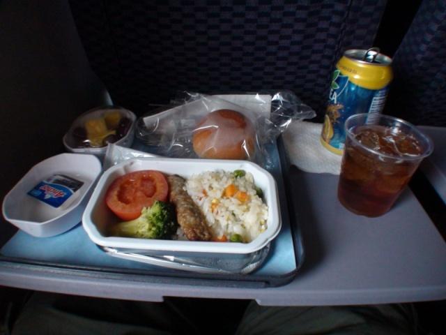 ノースウェスト機内食朝