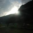 伊豆自然村キャンプ場日没