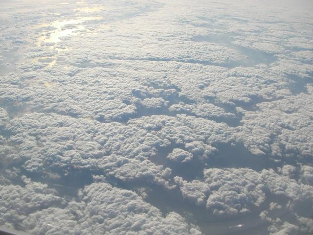 沖縄へ向かう上空