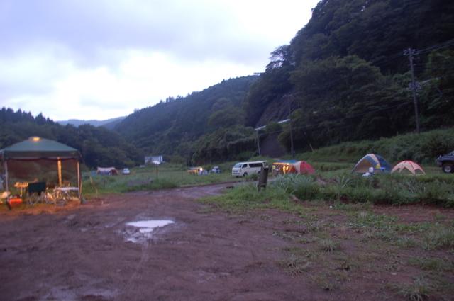 伊豆自然村キャンプ場内